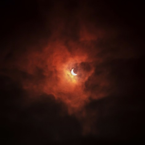 2015 Solar Eclipse over the Leeds by © Carl Milner.