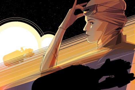 Jakku Sunset Star Wars The Force Awakens by Craig Drake