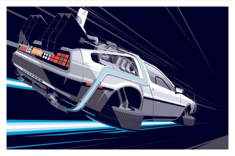 BACK TO THE FUTURE DELOREAN PART 2 BY CRAIG DRAKE SOLO SHOW II HERO COMPLEX GALLERY