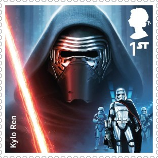 Royal Mail's Star Wars The Force Awakens Stamp Collection - Kylo Ren