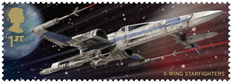 Royal Mail's Star Wars The Force Awakens Stamp Collection - X Wing Fighter Mk2