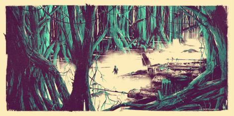 Dagobah - Star Wars - Art Awakens by Marie Bergeron
