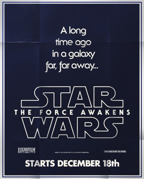 Retro Star Wars The Force Awakens Posters A long time ago in a galaxy far far away