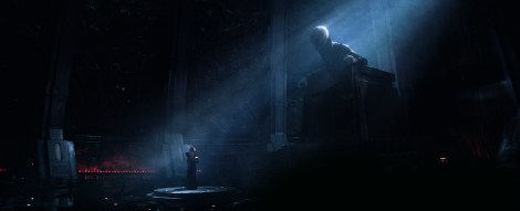 Supreme Leader Snoke and Kylo Ren Ben Solo Star Wars The Force Awakens Official Photo