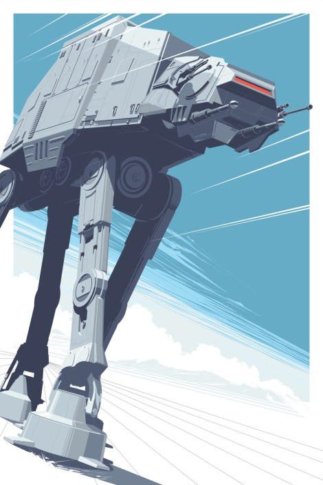 AT-AT Walker All Terrain Amoured Transport Star Wars Empire Strikes Back Hero Complex Gallery by Craig Drake