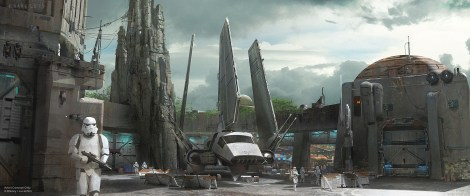 Disneyland 60 Star Wars Land New Concept Art Hi Res MilnersBlog - Empire Landing
