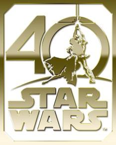 Star Wars 40th Anniversary Logo Gold HD Hi-Res
