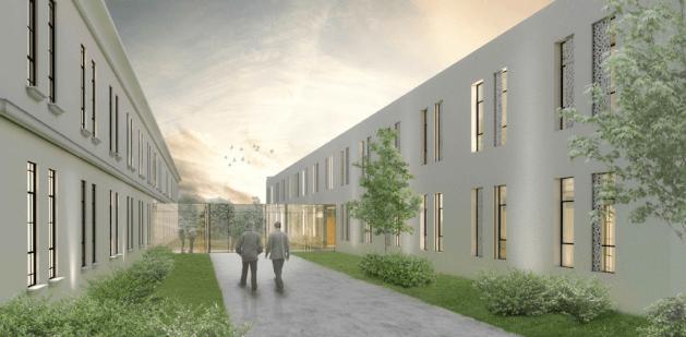 Abb. 2: Bürogebäude im Kommandogebäude Heckenast-Burian (Pittino & Ortner)