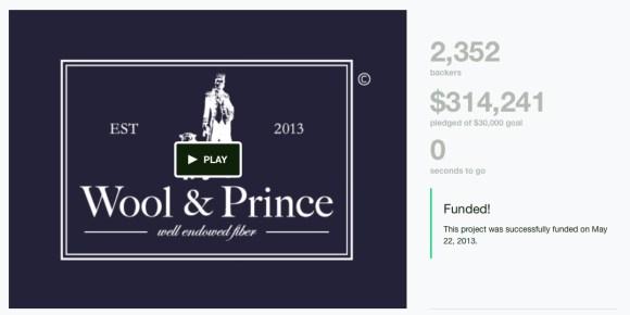 Wool&Prince kickstarter