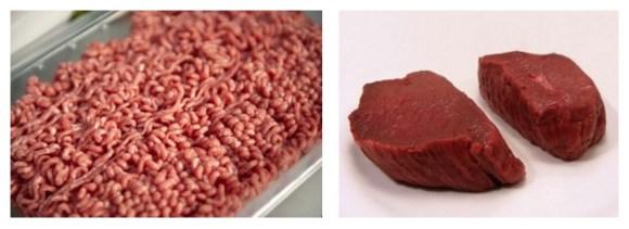 steak vs minced meat