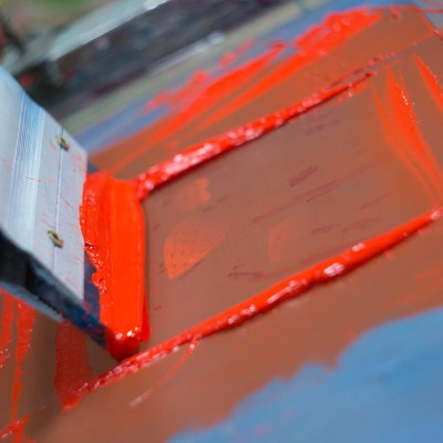 Screen-printing closeup