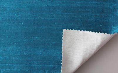 Dupioni silk turqoise blue