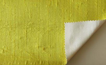 Dupioni silk citron yellow