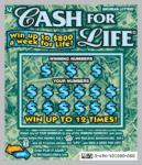 Michigan Lottery's $2 Cash for LIfe Instant ticket Game# 496