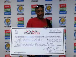 11.15.13 PL First jkpt winner $100K Gibran Cobb Detroit