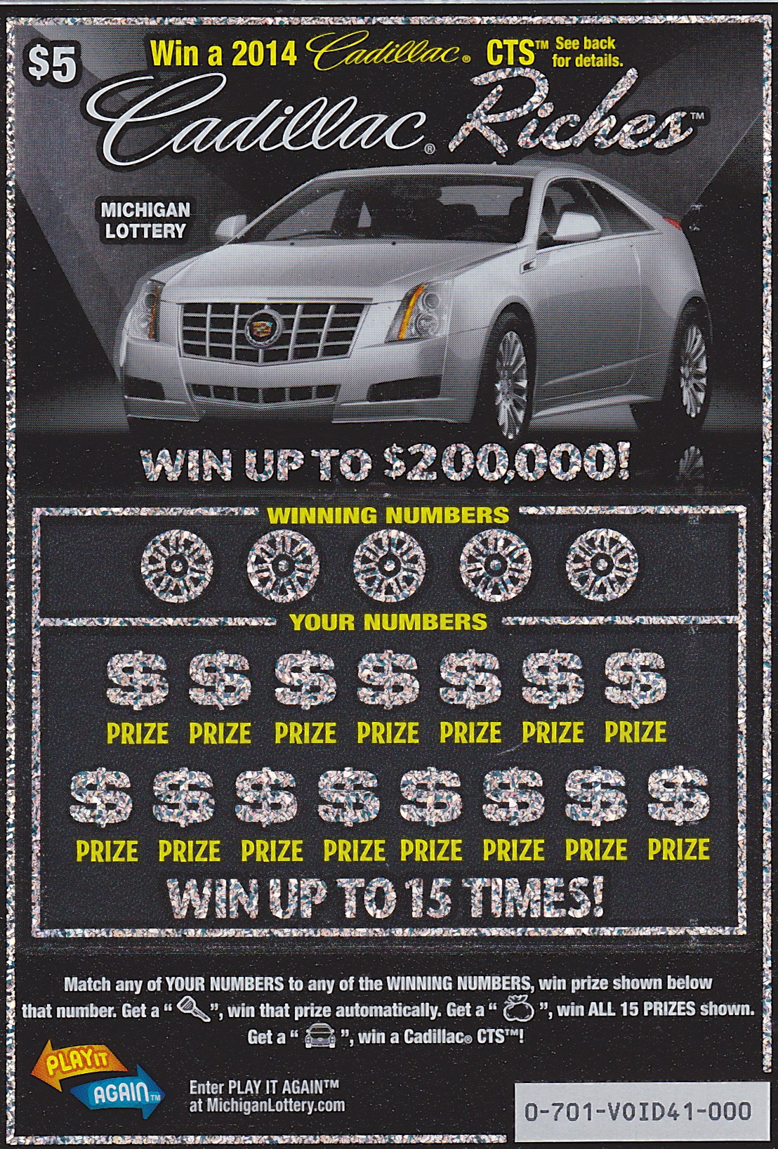Cadillac Riches Second Chance Drawing Deadline Approaching