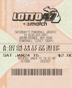 An anonymous Muskegon player visited Lottery headquarters today after winning a $1 million Lotto 47 jackpot over the weekend.