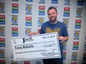 Tory Balulis won $111,306 playing Club Keno The Jack on Valentine's Day.