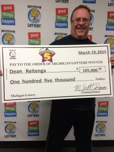 Dean Reitenga won $105,000 playing Fantasy 5 has big plans for his prize.