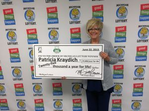 06.22.15 Lucky For Life 06.18.15 Drawing $25,000 a Year for Life Patricia Kraydich Clark County Nevada