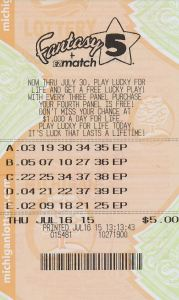 07.17.15 Fantasy 5 07.16.15 Draw $507,067 Anonymous St. Clair County