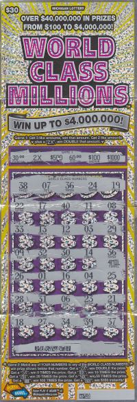 08.18.15 World Class Millions IG #731 $4,000,000 ($2,538,105 Lump Sum) Anonymous Wayne County