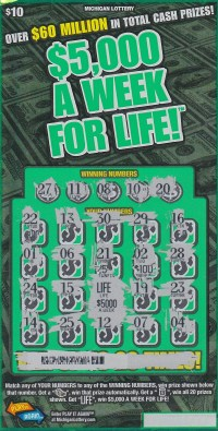 08.21.15 $5,000 a Week For Life IG # 728 $5,000 a Week For Life Anonymous Bay County