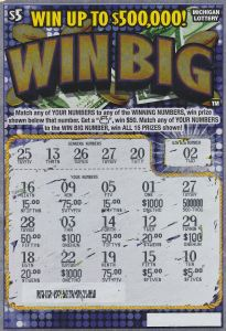 Bob Amidon's winning Big Win ticket.
