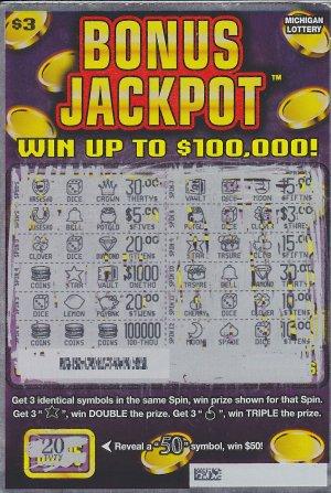 12.10.15 Bonus Jackpot IG# 735 $100,000 Anonymous Macomb County