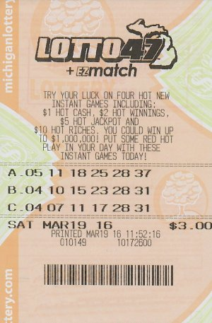 3.21.16 Lotto 47 03.19.16 Draw $1.25 Million Anonymous Wayne County