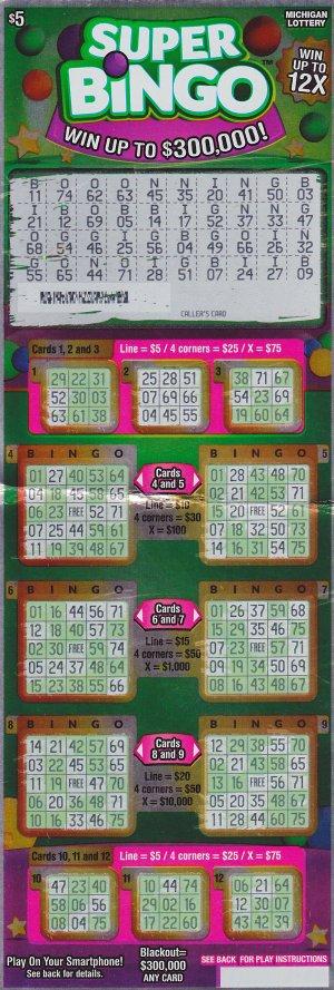 04.19.16 IG 751 Super Bingo $300,000 Anonymous Wayne County