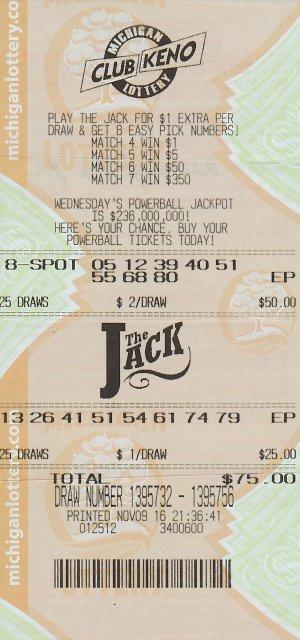 Krupp's winning ticket.