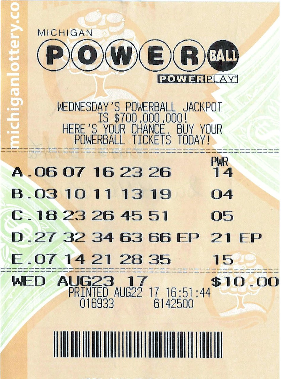 Michigan lottery second chance prizes for powerball