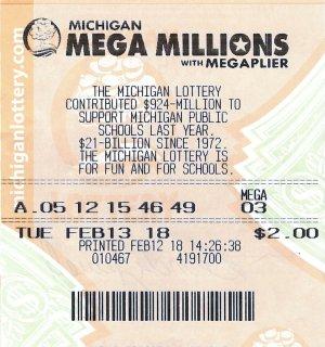 Jewell's winning ticket.