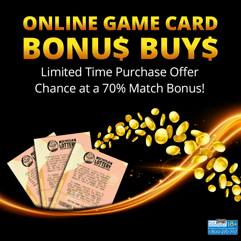 Select Online Game Card Purchases Offer Bonus Free Play to Lottery