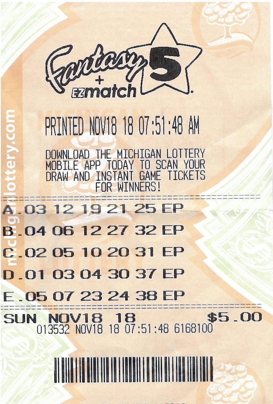 Jackson County Man Wins $398,434 Fantasy 5 Jackpot | Michigan