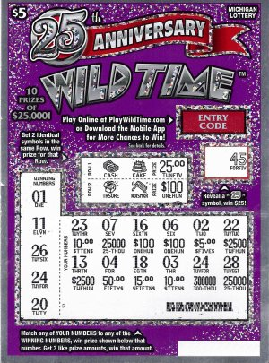 Michigan lottery wild time | Michigan Lottery Second Chance Games