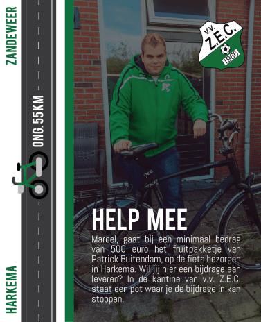 Marcel gaat fietsen