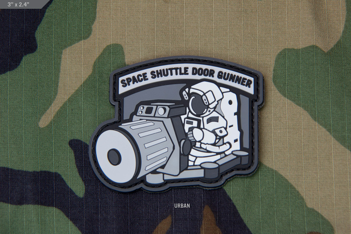 Space Shuttle Doorgunner Pvc Morale Patch