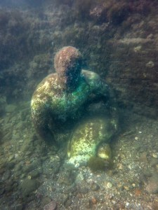 a statue in underwater archaeological park