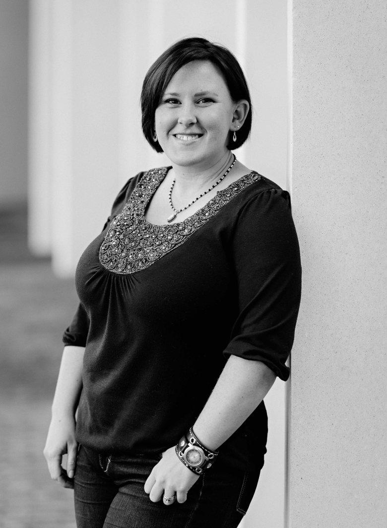 Black and White Portrait of Amanda Shields