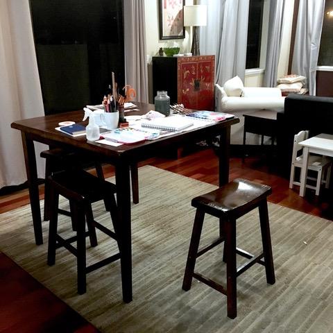 Dining room painting studio
