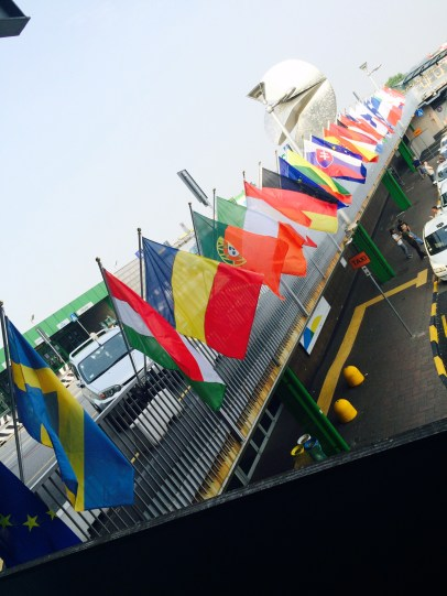 Flags in Romania