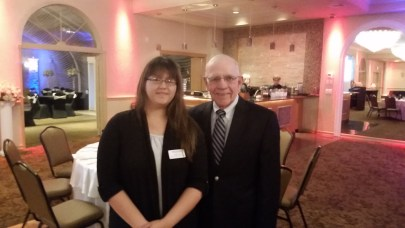 MILSPRAY™ Digital Marketing Manager, Natalie Adis with Former Congressman Jim Saxton