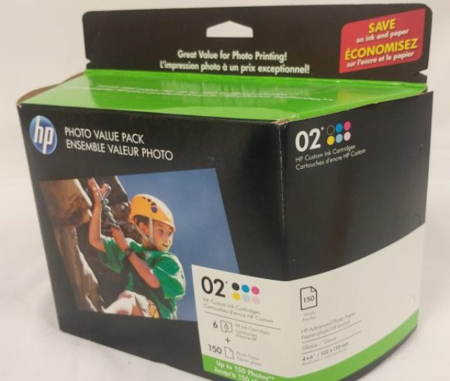Hp 02 Series Photo Value Pack 6 Cartridges And Paper