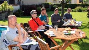 Občerstvení a krásné počasí během kurzu udržovalo všechny v příjemné náladě.