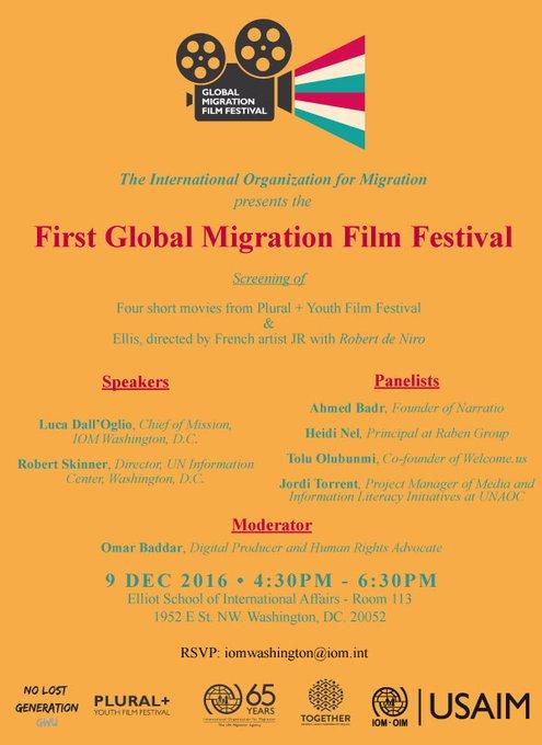 Invitation to Global Migration Film Festival DC