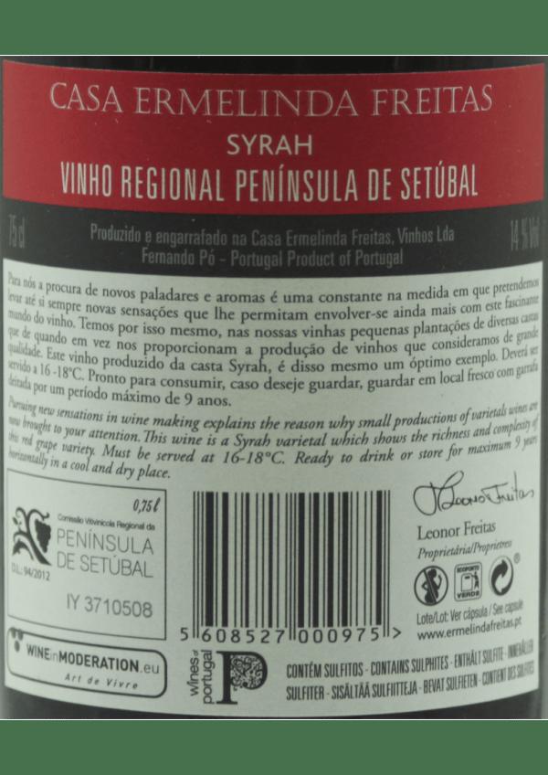 ermelinda syrah back milvinhos