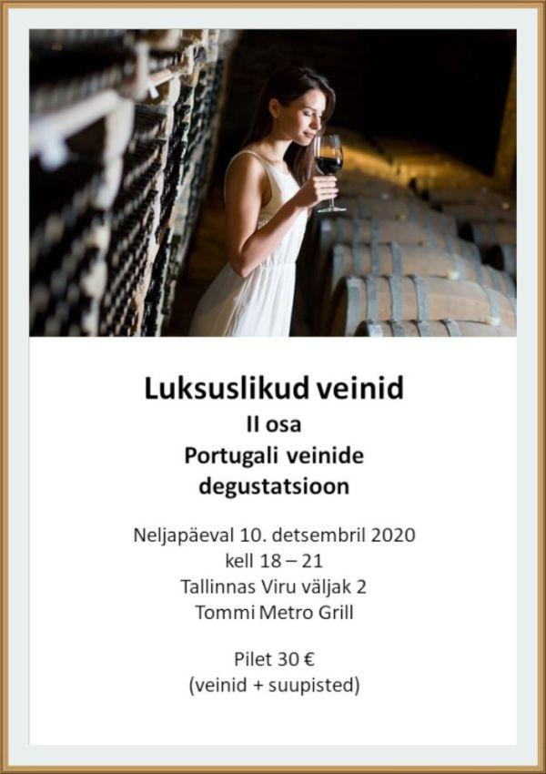 luksuslike veinide degustatsioon