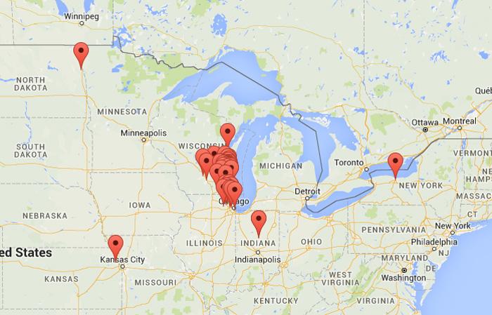 Toronto Us Map - Milwaukee on us map